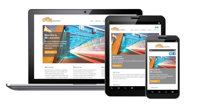 dBx Acoustics - Web design oldham